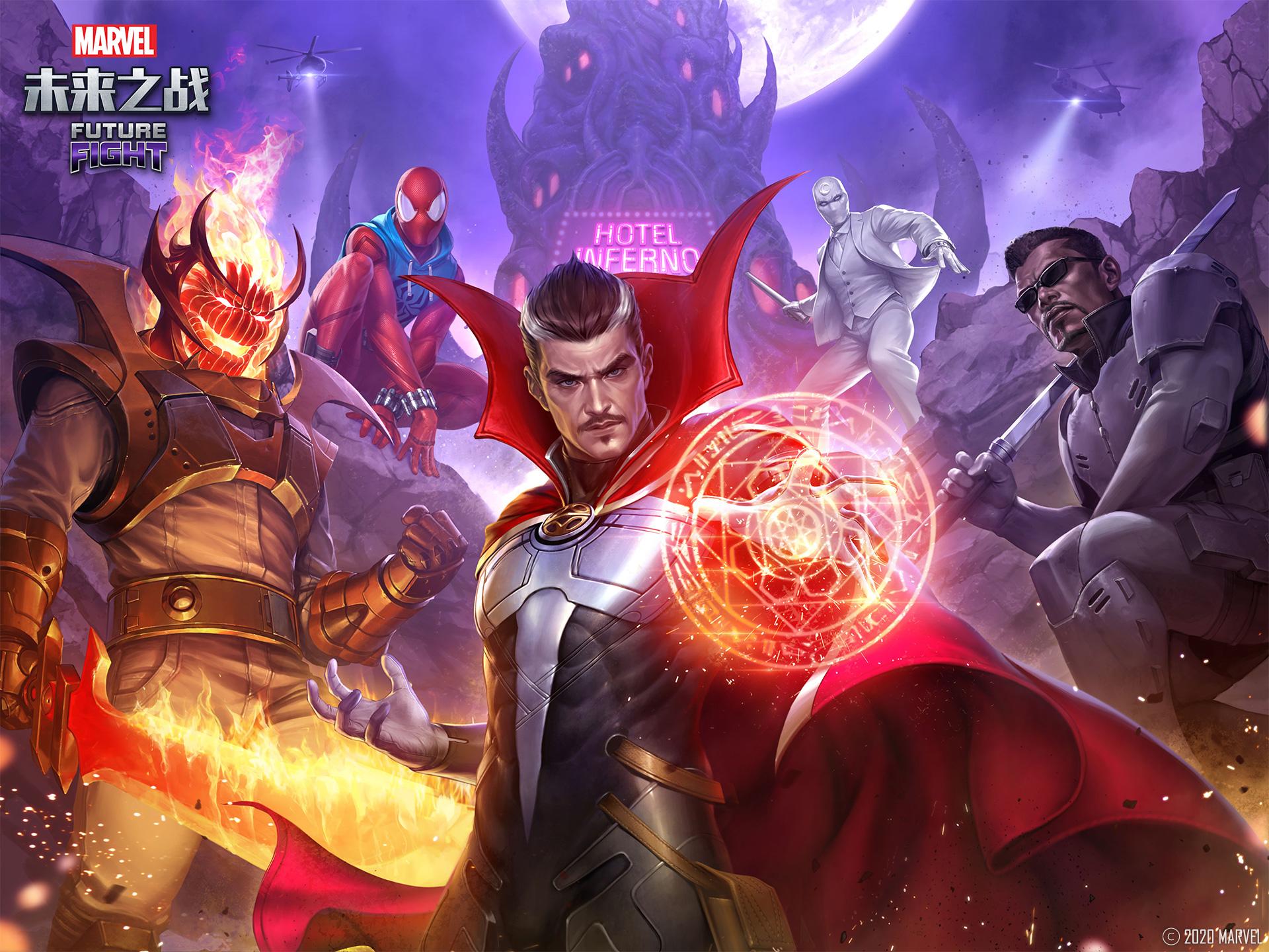 「漫威:未来之战」来自地狱诅咒漫画的英雄和反派加入漫威:未来之战